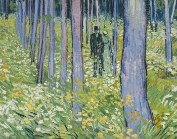 """Undergrowth with two Figures,"" 1890, Vincent van Gogh, Dutch; oil on canvas. Cincinnati Art Museum, Bequest of Mary E. Johnston, 1967.1430."