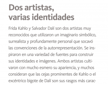 Introductory Kahlo and Dali exhibition interpretive text, Spanish