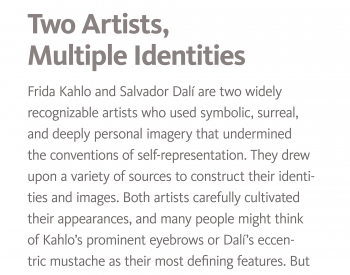 Introductory Kahlo and Dali exhibition interpretive text, English
