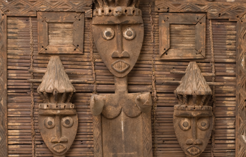 Ijo, African, Ancestral Screen, late 19th century, iroko wood, earth pigments, plant fibers, and metal. Detroit Institute of Arts, Museum Purchase, Robert H. Tannahill Foundation Fund, 2003.21