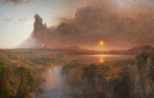 """Cotopaxi,"" Frederic Edwin Church, 1862, American. Detroit Institute of Arts."