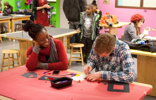 DIA visitors participate in a Drop-in Workshop