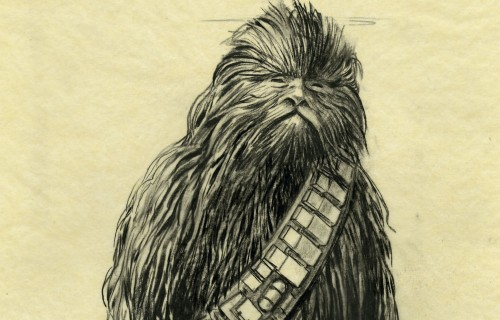 Concept Art, Chewbacca. Star Wars™: A New Hope. © & ™ 2018 Lucasfilm Ltd. All rights reserved. Used under authorization.