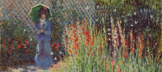 Claude Monet, Rounded Flower Bed (Corbeille de fleurs), c. 1876, oil on canvas. Detroit Institute of Arts.