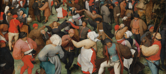 """The Wedding Dance,"" 1566, Pieter Bruegel the Elder, Netherlandish; oil on wood panel. Detroit Institute of Arts."