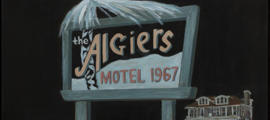 """1967: Death in the Algiers Motel and Beyond,"" 2017, Rita Dickerson, acrylic on canvas. Courtesy of the artist."