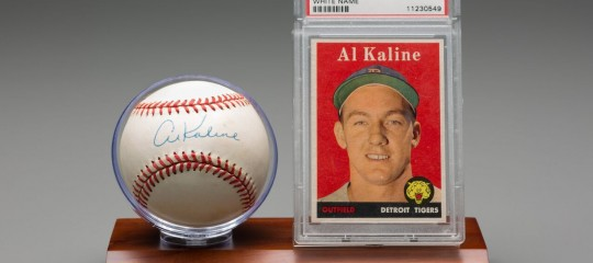 Al Kaline Baseball and Baseball Card