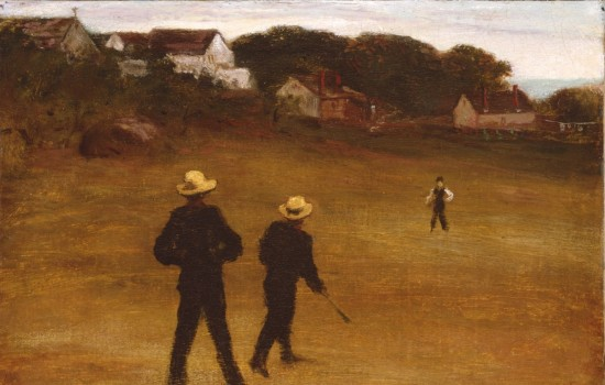 """The Ball Players,"" 1871, William Morris Hunt, American; oil on canvas. Detroit Institute of Arts."