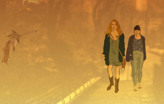 """Animation of two women in the film """"Fourteen"""""""