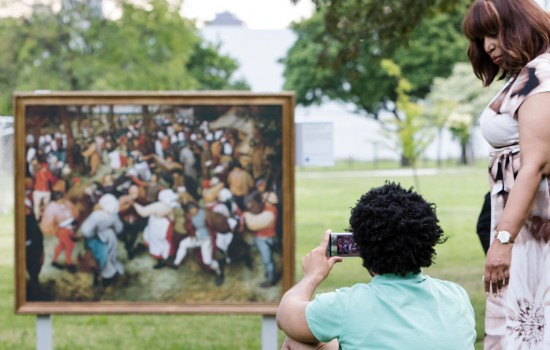 The DIA's Inside|Out outdoor installation in Detroit's Lafayette Park neighborhood