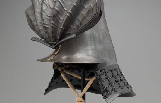 """Samurai Helmet,"" 17th Century, Japanese; wood, lacquer, metal, fiber. Detroit Institute of Arts."