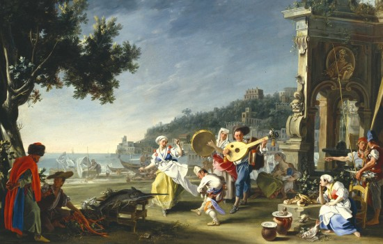 Filippo Falciatore, Italian, active 1718–1768. Tarantella at Mergellina, about 1750; Oil on canvas. Detroit Institute of Arts, Founders Society Purchase, Acquisitions Fund. (80.3)