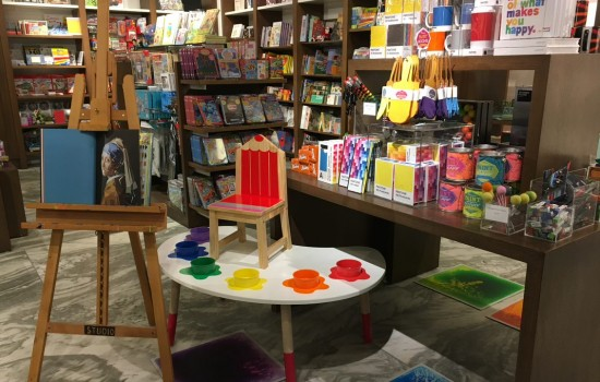 An image of colorful items for sale in the DIA museum shop