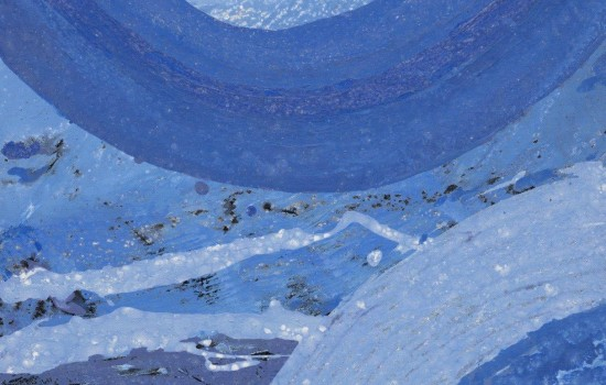 """All Blues,"" 2008, Allie McGhee, American; mix/canvas. From the private collection of Nettie Seabrooks."