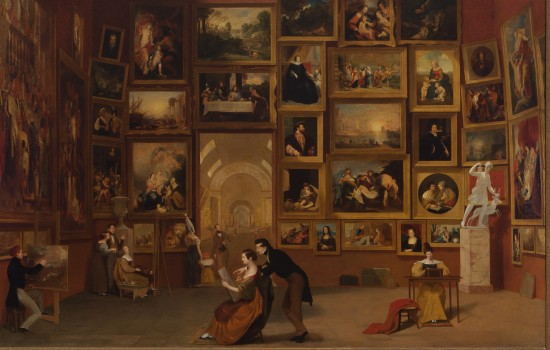 """Gallery of the Louvre,"" Samuel F. B. Morse, 1931-33, oil on canvas. Terra Foundation for American Art, Daniel J. Terra Collection, 1992.51"
