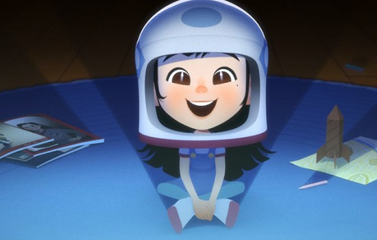 Still from animated film One Small Step