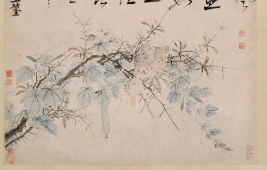 Ode to the Pomegranate and Melon Vine, ca. between 1506 and 1509, Shen Zhou and Wang Ao, Chinese, ink and paint on paper