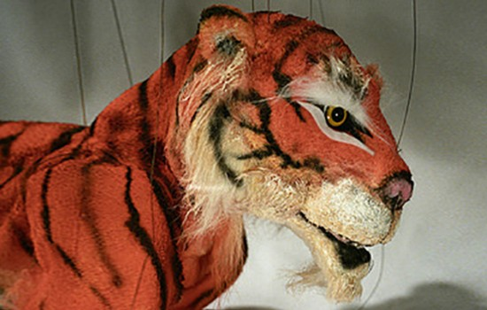 A puppet of Sher Khan, the tiger