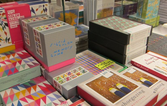 Stationery display in the DIA museum shop