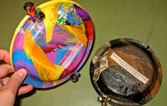 Examples of tambourines made out of paper plates