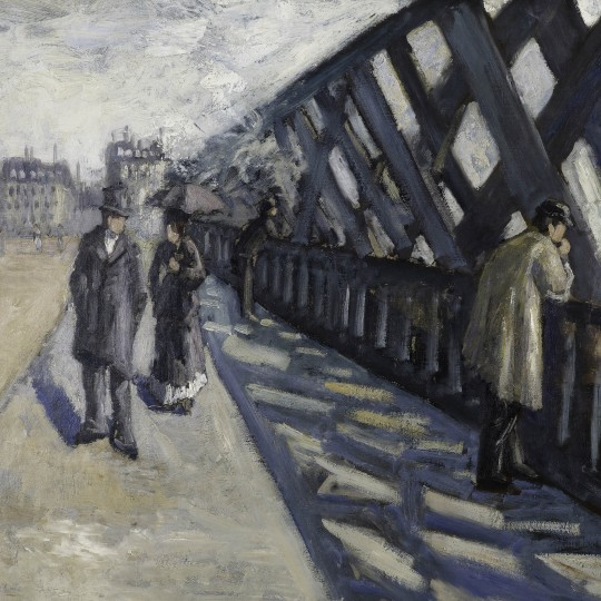 "Etude pour ""Le Pont de l'Europe"" (Study for ""Le Pont de l'Europe""), 1876, Gustave Caillebotte, French; oil on canvas. Collection Albright-Knox Art Gallery, Buffalo, New York. Photograph by Tom Loonan and Brenda Bieger, courtesy of Albright-Knox Art Galler"