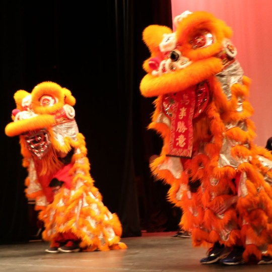 An image from a former Michigan Lion Dance performance