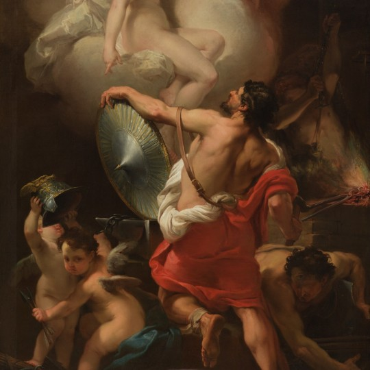 Venus Receiving the Arms from Vulcan for Aeneas, ca. 1770/1775, oil on canvas; Gaetano Gandolfi, Italian, 1734–1802. Detroit Institute of Arts. Gift of Mr. and Mrs. Allan Shelden III (74.2)
