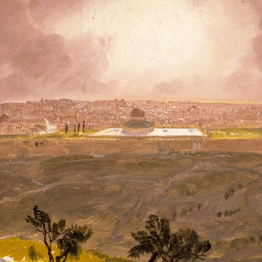 "Frederic Edwin Church's ""Jerusalem from the Mount of Olives, March, 1868"""