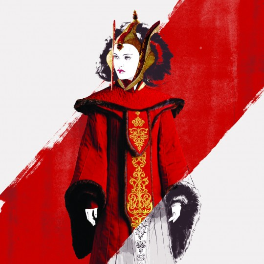 Queen Amidala, illustration, Star Wars and the Power of Costume