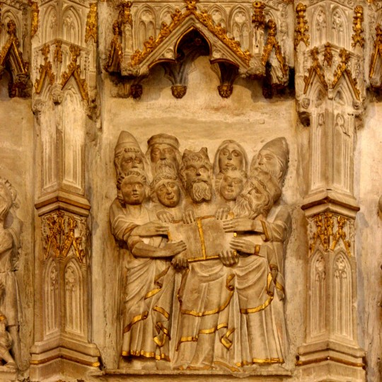 Tablets of the Law Choir Screen ca. 1380