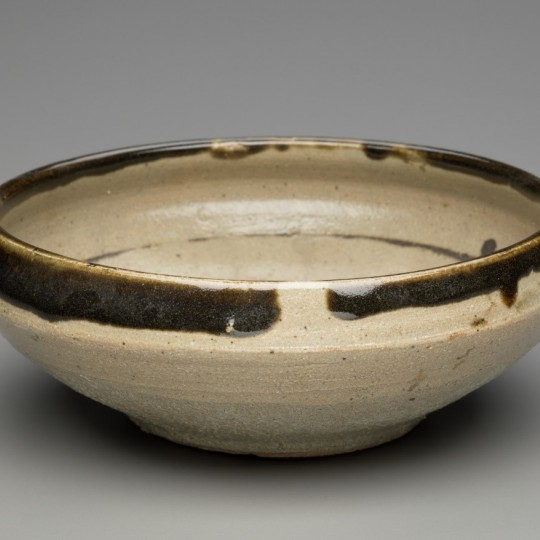 Hamada Shoji (Japanese, 1894–1978). Bowl, ca. 1950. Stoneware with clear and iron glazes, Height: 3 in. Diameter: 8 1/2 in. Detroit Institute of Arts, Gift of Mrs. Richard H. Webber. 57.118