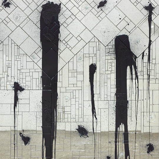"""River Crossing,"" 2011, Rashid Johnson, American; mirrored tile, black soap, wax. Detroit Institute of Arts."