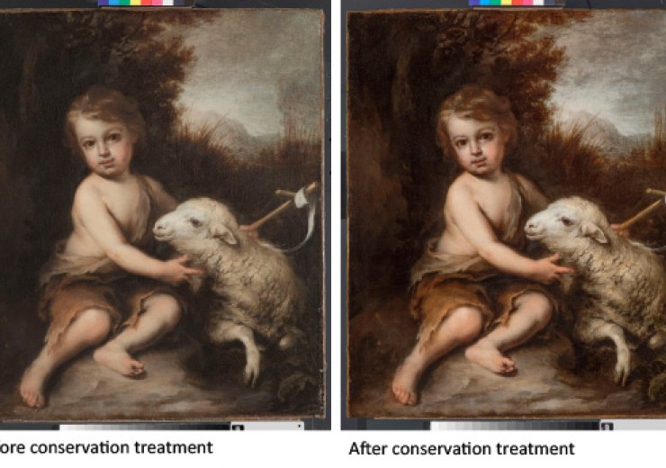 Before and after conservation treatment